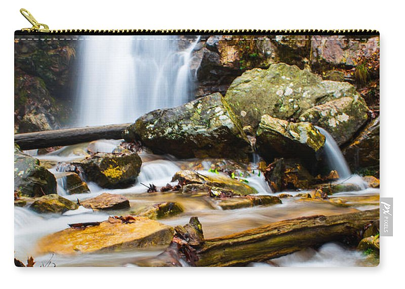 Peavine Falls Carry-all Pouch featuring the photograph Rushing Falls by Parker Cunningham
