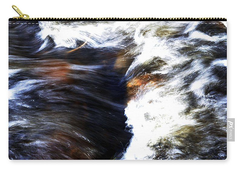 Landscape Carry-all Pouch featuring the photograph Rushing Water by Pam Romjue