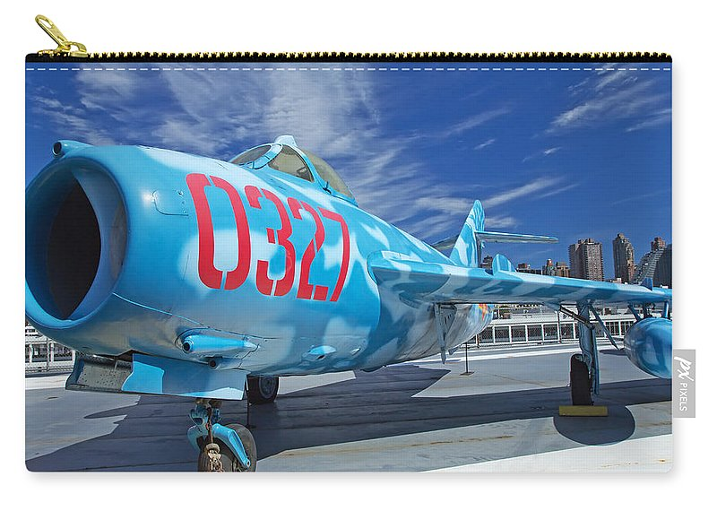 Air Carry-all Pouch featuring the photograph Russian Aircraft Mig At Interpid Museum by Jaroslav Frank