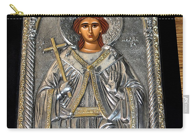 Russian Carry-all Pouch featuring the photograph Russian Byzantin Icon by Jay Milo