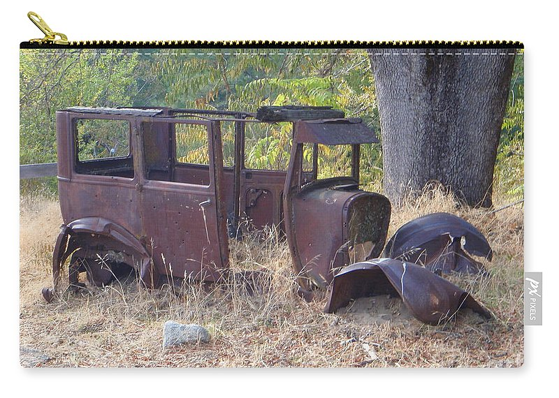 Ford Carry-all Pouch featuring the photograph Rust In Full Bloom by Mary Deal