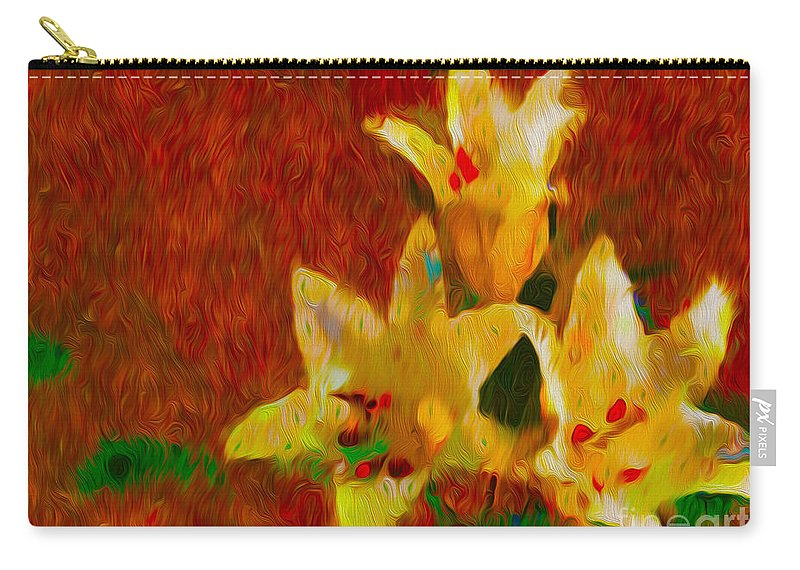 Lily Carry-all Pouch featuring the photograph Rustic Lilies by P Donovan