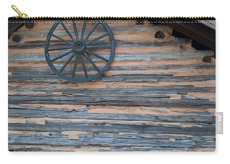 Popular Carry-all Pouch featuring the photograph Rustic Ornamentation - Yates Mill Pond by Paulette B Wright