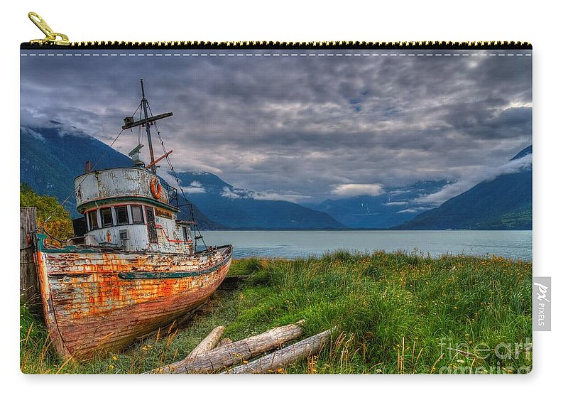Bella Coola Carry-all Pouch featuring the photograph Rustic Trolley by James Anderson