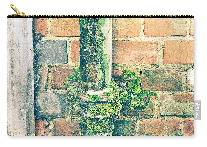 Broken Carry-all Pouch featuring the photograph Rusty Drainpipe by Tom Gowanlock