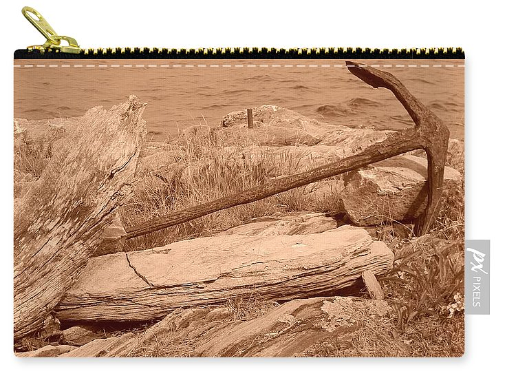 Anchor Carry-all Pouch featuring the photograph Rusty by Jean Goodwin Brooks
