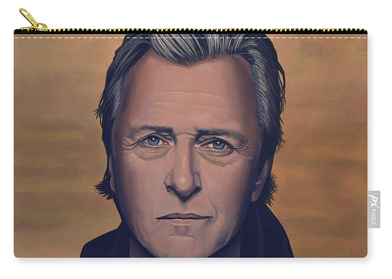 Rutger Hauer Carry-all Pouch featuring the painting Rutger Hauer by Paul Meijering