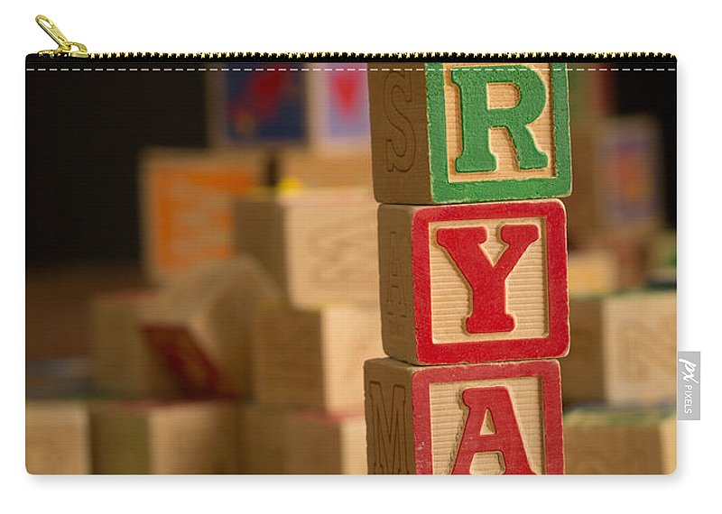 Alphabet Carry-all Pouch featuring the photograph Ryan - Alphabet Blocks by Edward Fielding
