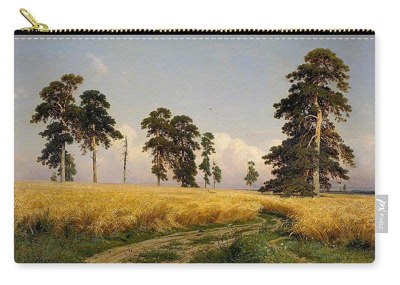 Ivan Shishkin Carry-all Pouch featuring the painting Rye by Ivan Shishkin