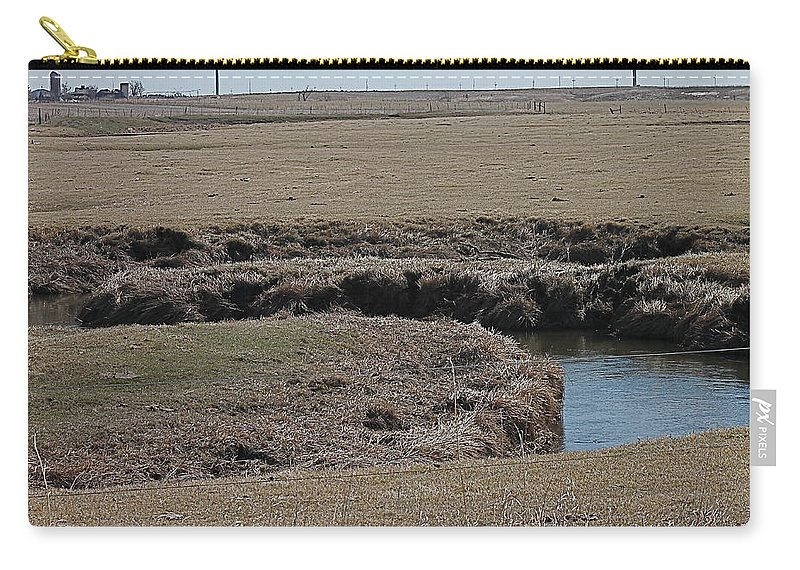 Creek Carry-all Pouch featuring the photograph S Curve Creek by Wayne Williams