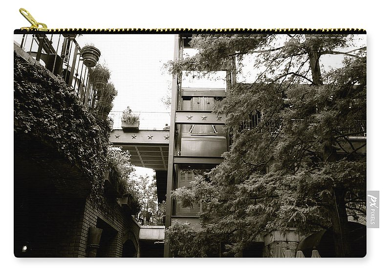 Architecture Carry-all Pouch featuring the photograph Sa River Walk 007-13 by Shawn Marlow