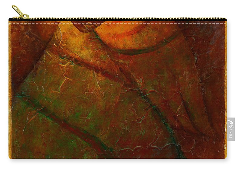 Native American Carry-all Pouch featuring the painting Sacred Space by Kevin Chasing Wolf Hutchins