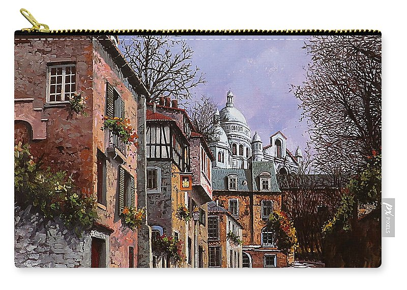 Paris Carry-all Pouch featuring the painting Sacro Cuore by Guido Borelli