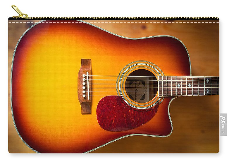 Art Carry-all Pouch featuring the photograph Saehan Guitar Body by Semmick Photo
