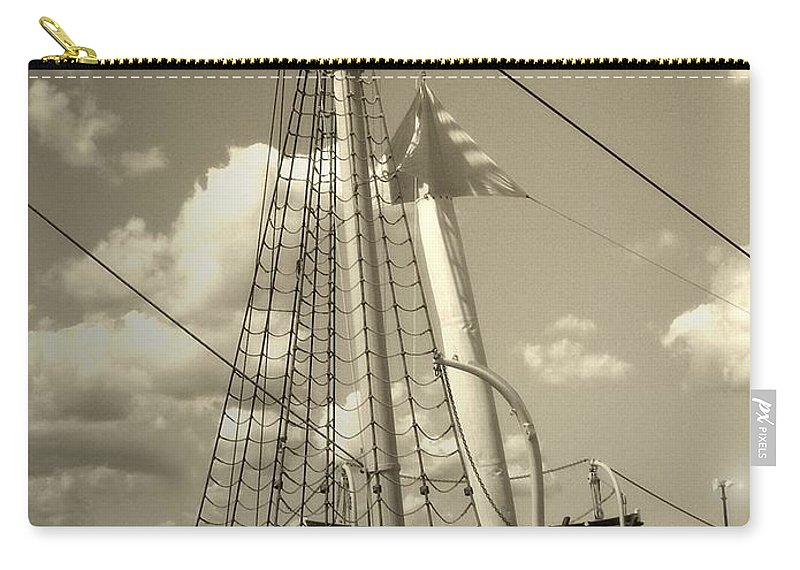 Sailboat Carry-all Pouch featuring the photograph Safe Harbor At Sunset by RC DeWinter