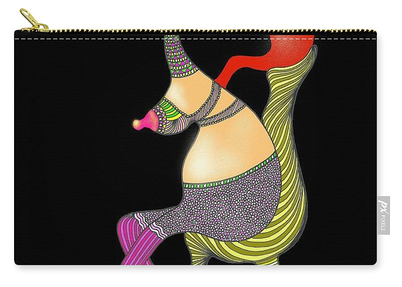Genia Carry-all Pouch featuring the drawing Safe In Mother's Love by Genia GgXpress
