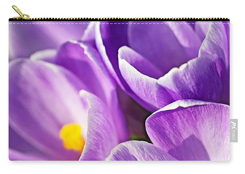 Beautiful Carry-all Pouch featuring the photograph Saffron Flowers. by Jaroslav Frank