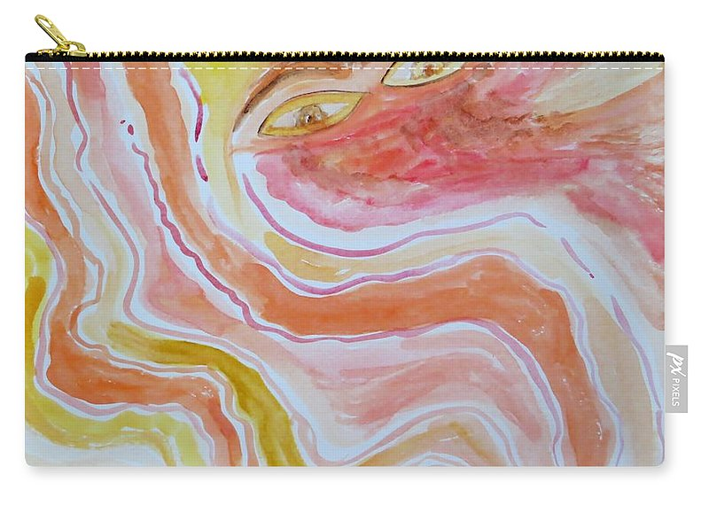 Woman Carry-all Pouch featuring the painting Saga Of Woman by Sonali Gangane
