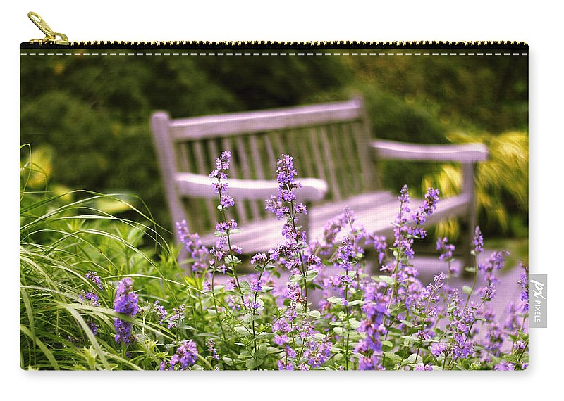 Garden Carry-all Pouch featuring the photograph Sage Garden by Jessica Jenney