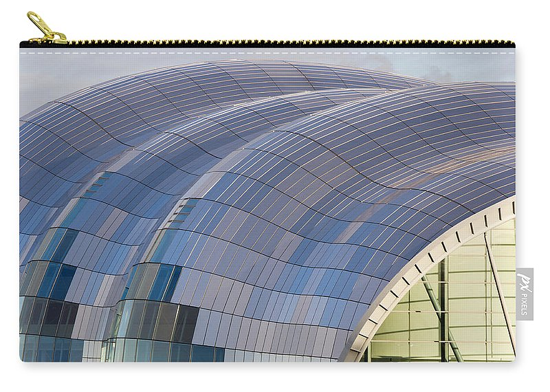 Arch Carry-all Pouch featuring the photograph Sage Gateshead Roof Close Up by David Head