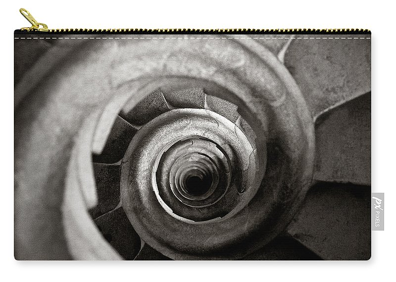 La Sagrada Familia Carry-all Pouch featuring the photograph Sagrada Familia Steps by Dave Bowman