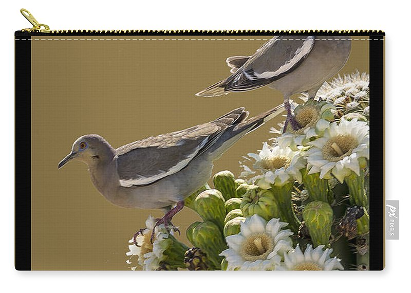 Cactus Carry-all Pouch featuring the photograph Saguaro Cactus Flower 6 by Larry White