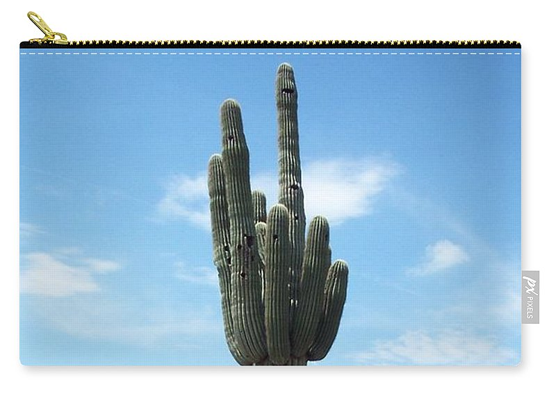 Saguaro Carry-all Pouch featuring the photograph Saguaro by Christiane Schulze Art And Photography