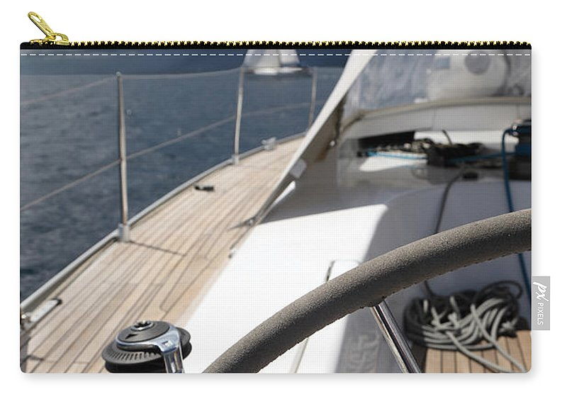 Adriatic Sea Carry-all Pouch featuring the photograph Sailboats In Mediterranean Sea by Vuk8691