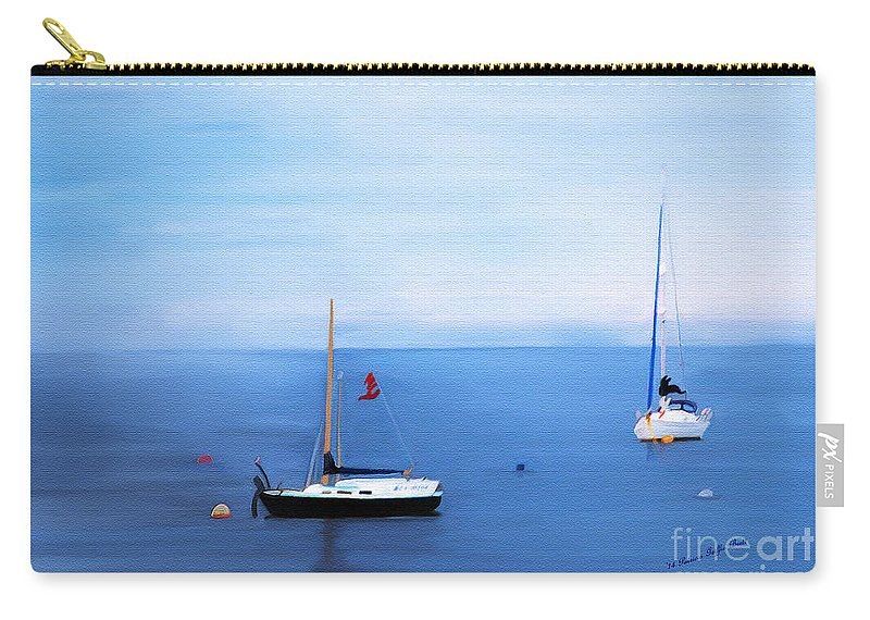 Fine Art Carry-all Pouch featuring the painting Sailboats in Skerries Harbor- mixed media photography by Patricia Griffin Brett