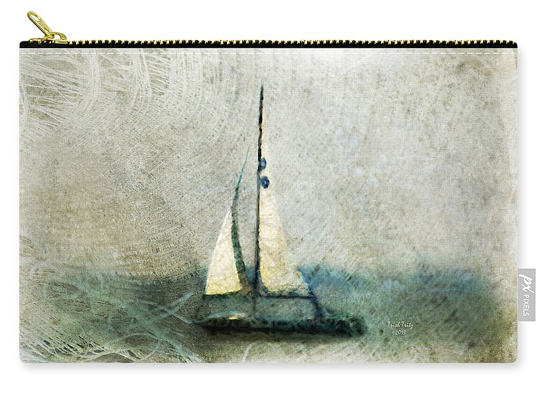 Sally Starr Carry-all Pouch featuring the mixed media Sailin' With Sally Starr by Trish Tritz