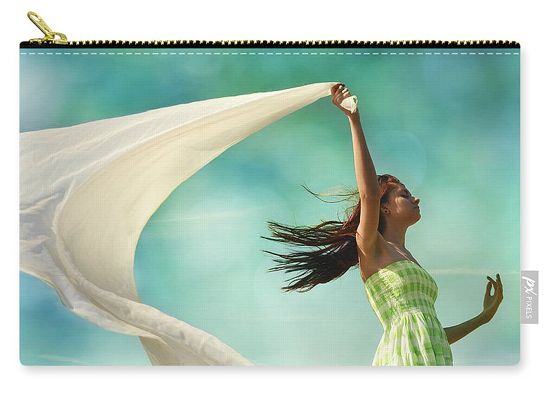 Laura Fasulo Carry-all Pouch featuring the photograph Sailing A Favorable Wind by Laura Fasulo