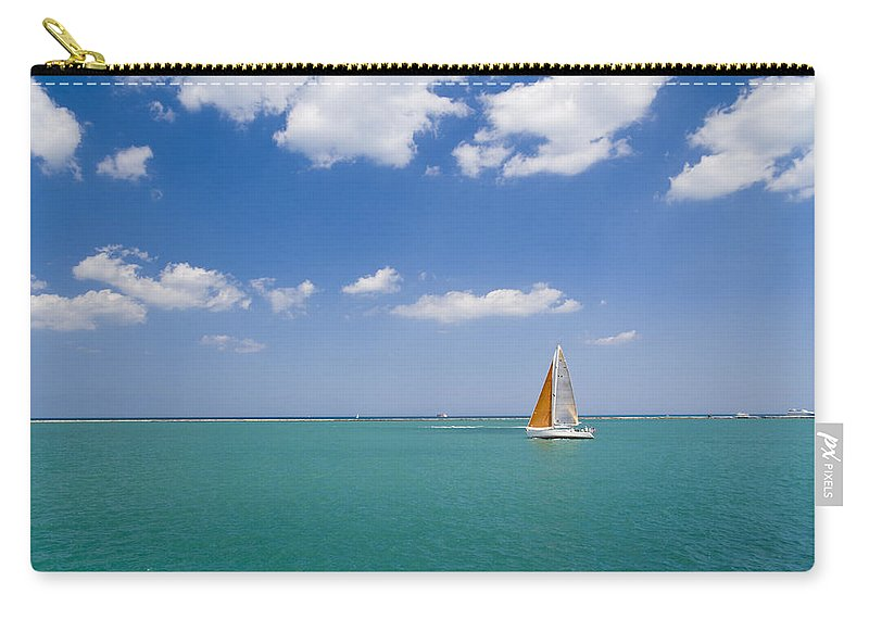 Boat Carry-all Pouch featuring the photograph Sailing by Alexey Stiop