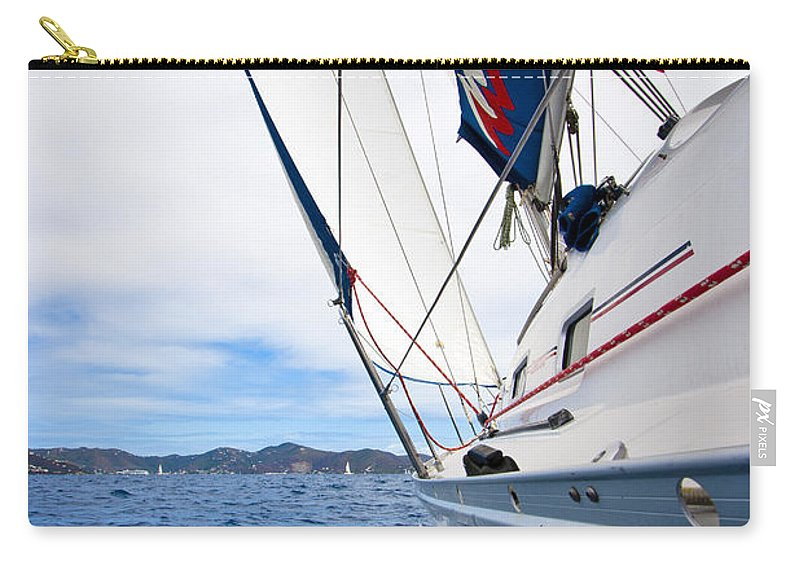 3scape Carry-all Pouch featuring the photograph Sailing Bvi by Adam Romanowicz
