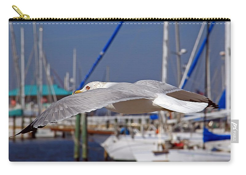 Seagull Carry-all Pouch featuring the photograph Sailing by HH Photography of Florida