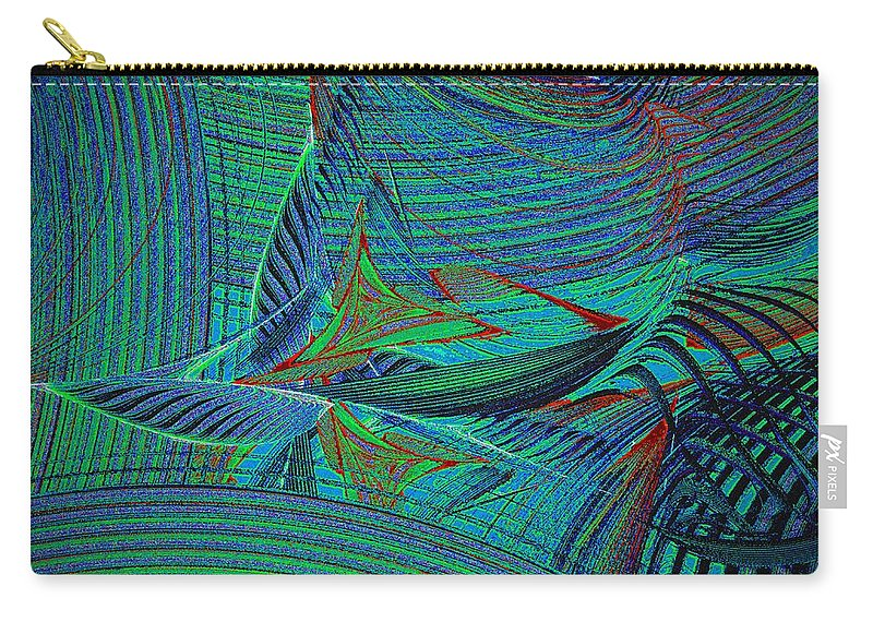 Sail Carry-all Pouch featuring the digital art Sailing In Rough Sea by Klara Acel