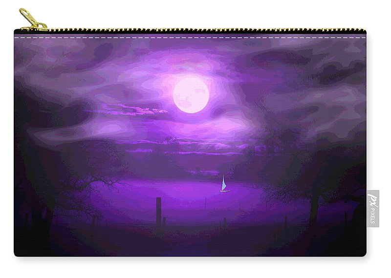 Moon Carry-all Pouch featuring the photograph Sailing In The Moonlight by Joyce Dickens