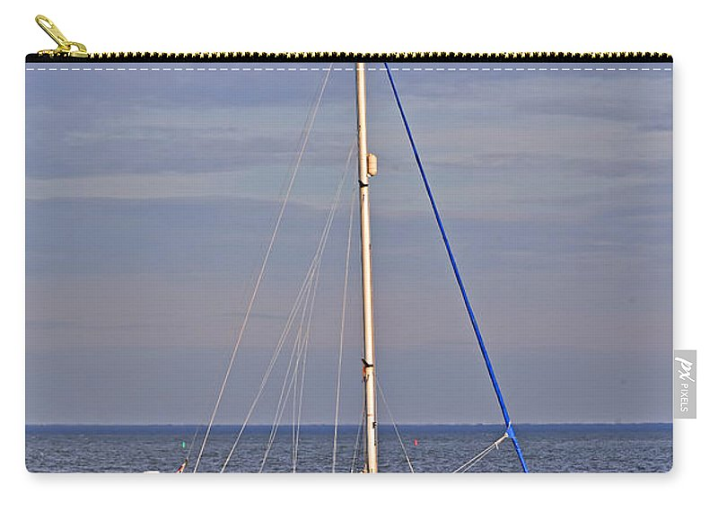 Travel Carry-all Pouch featuring the photograph Sailing In Volendam by Elvis Vaughn