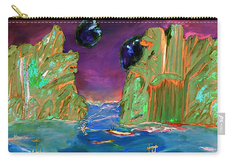 Sailing Carry-all Pouch featuring the digital art Sailing On Beta Antares 3 by Gail Daley