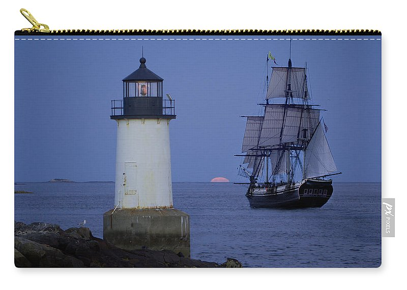 Salem Carry-all Pouch featuring the photograph Sailing Out For The Red Moon by Jeff Folger