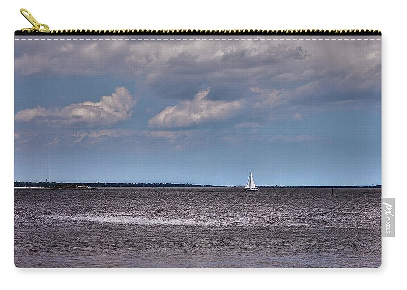 Charleston Carry-all Pouch featuring the photograph Sailing by Sennie Pierson