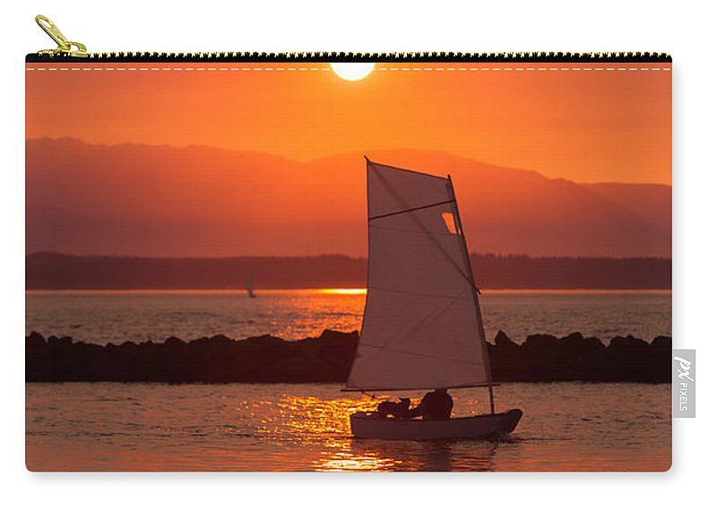 Sunset Carry-all Pouch featuring the photograph Sailors Solitude 1 by Scott Campbell
