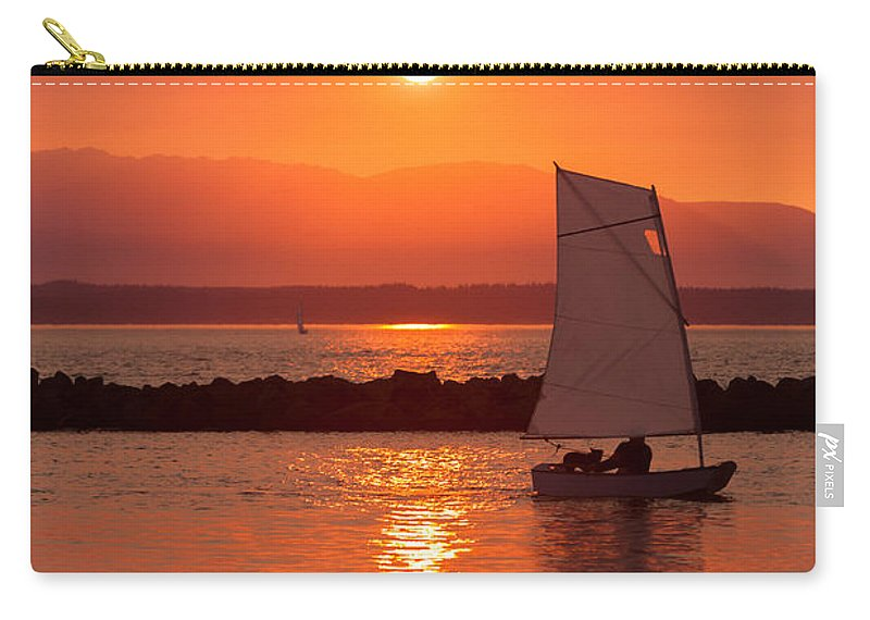 Sunset Carry-all Pouch featuring the photograph Sailors Solitude 2 by Scott Campbell
