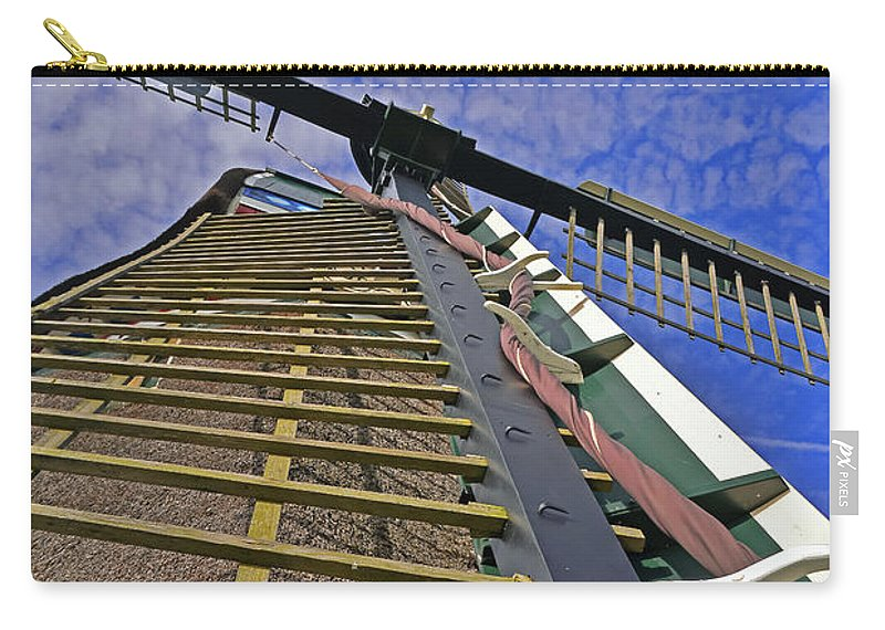 Travel Carry-all Pouch featuring the photograph Sails Of A Windmill by Elvis Vaughn