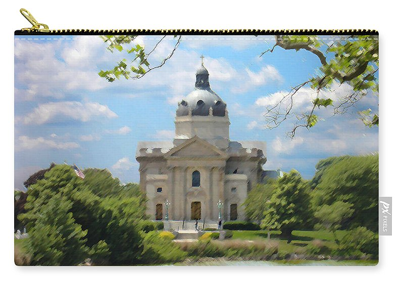 Landscape Carry-all Pouch featuring the digital art Saint Catharines by Steve Karol