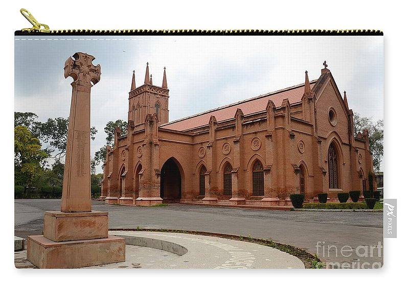 Anglican Carry-all Pouch featuring the photograph Saint John's Cathedral Anglican Church Peshawar Pakistan by Imran Ahmed