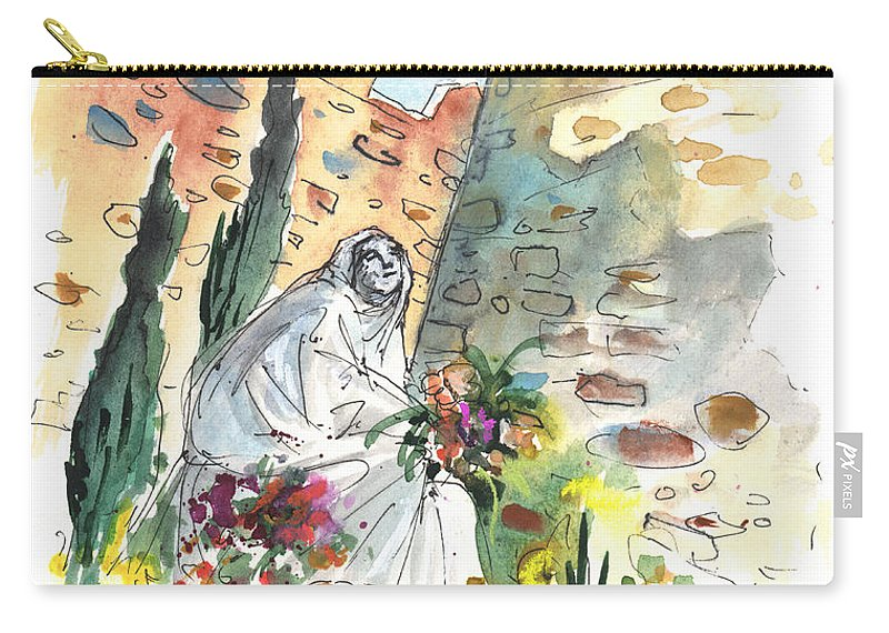 Travel Carry-all Pouch featuring the painting Saint Teresa Of Avila by Miki De Goodaboom