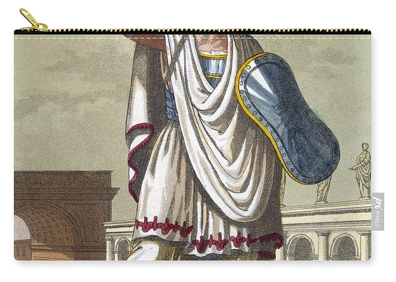L'antique Rome Carry-all Pouch featuring the drawing Salio, 1796 by Jacques Grasset de Saint-Sauveur