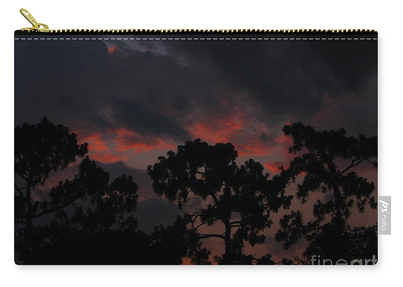 Art For The Wall...patzer Photography Carry-all Pouch featuring the photograph Salmon Sunset by Greg Patzer