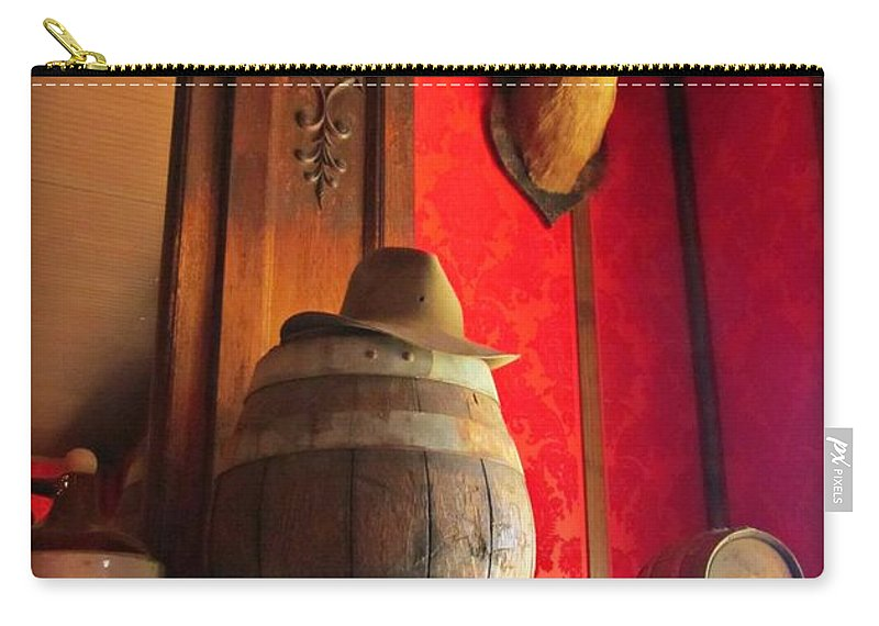 Saloon Interior Prints Carry-all Pouch featuring the photograph Saloon Still Life by John Malone