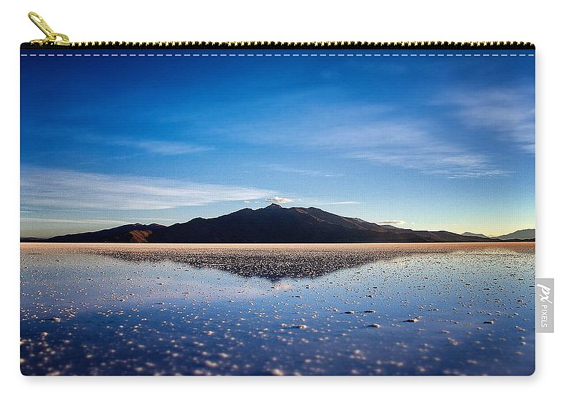 Harvest Carry-all Pouch featuring the photograph Salt Cloud Reflection Framed by For Ninety One Days